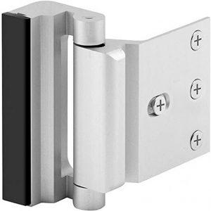 Home Security Door Lock with 8 Screws, Childproof Door Reinforcement Lock with 3″ Stop Withstand 800 lbs for Inward Swinging Door