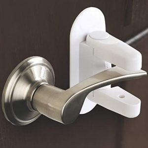 Door Lever Lock (2 Pack) Child Proof Doors & Handles 3M Adhesive
