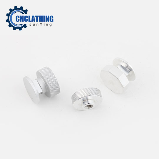 Small CNC Machined Aluminum 6061 Knurled Lock Nut
